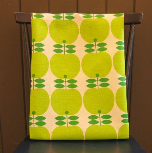 scandinavian tea towel 50s 60s vtg era fabric Apple retro DIY pic Koloni RRP £16