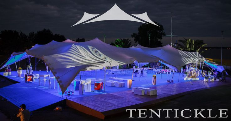 Tents at night in Argentina