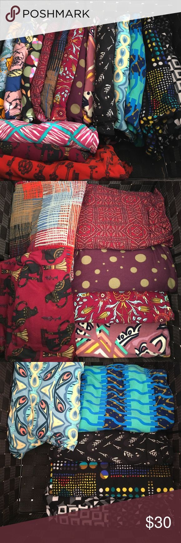 NWT LuLaRoe Leggings These are for sale individually, or pick a pair free with any bundle over $75.  Almost all are TC, a couple are OS, and all are brand new except the skeleton keys, which are very gently used, like new condition.  If you have questions about any of them or want more pics, just let me know! LuLaRoe Pants Leggings