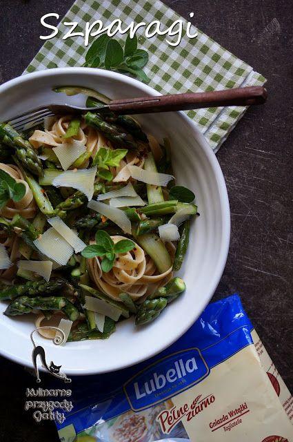 Kulinarne przygody Gatity: Makaron pełnoziarnisty ze szparagami