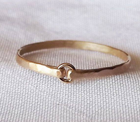 Tiny Circle Hammered Gold Filled Ring - Gold Ring - Stacking Rings. $16.00, via Etsy.
