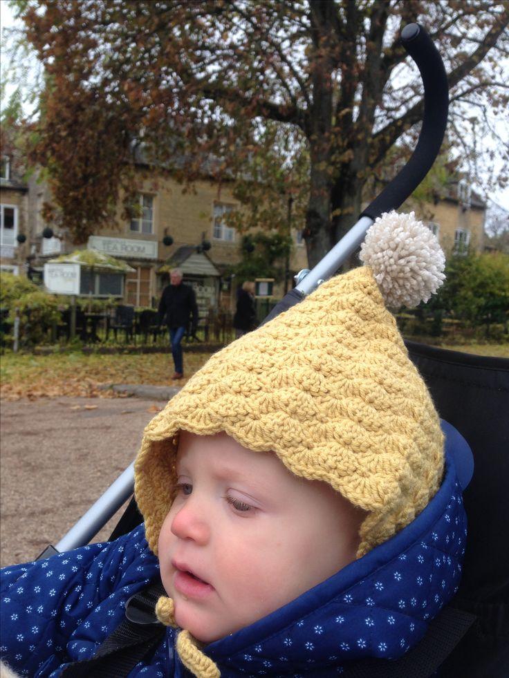 'Thread the Love' crochet pixie bonnet
