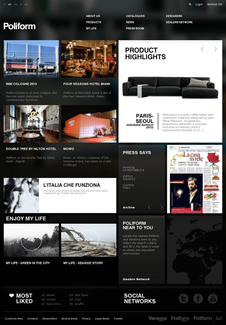 Website 'http://www.poliform.it/poliform_en.html' snapped on Snapito!