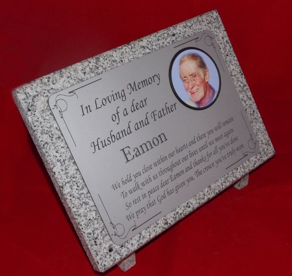 Hey, I found this really awesome Etsy listing at https://www.etsy.com/listing/268024277/personalised-grey-granite-memorial-grave