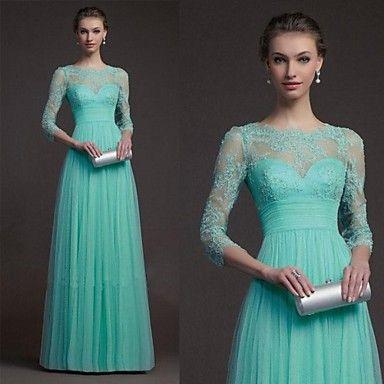 duopindun @ vestido largo maxi de la gasa de la dama de honor del partido de coctel del vestido de noche de las nuevas mujeres atractivas – USD $ 18.91