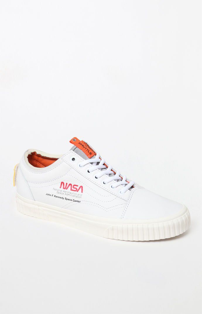 Original NASA Vans Old Skool Canvas Shoes White Sneakers