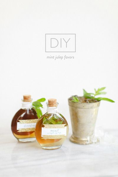 DIY Mint Julep Favors: http://www.stylemepretty.com/2014/07/21/diy-mint-julep-favors/ | Photography: http://rutheileenphotography.com/