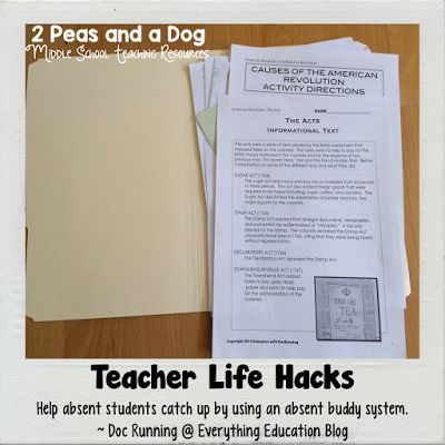 Absent Buddy System Teacher Life Hack - 2 Peas and a Dog. Use this system to help manage student absences and maintain your classroom management.