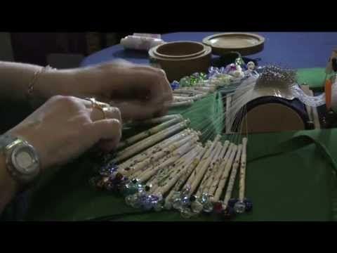 ▶ Louise West Bobbin Lace Making - YouTube