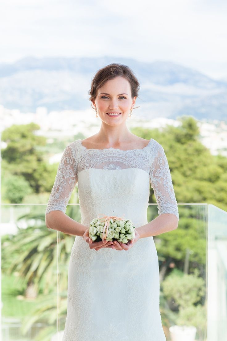 Sparkling Turquoise Waters: Croatia Destination Wedding |  A exquisite white dress by St Patrick. Photographer: Philip Andrukhovich | Makeup & Hair: Jlc Style Agency | Floral Design: Flower and Sweet Fairy.