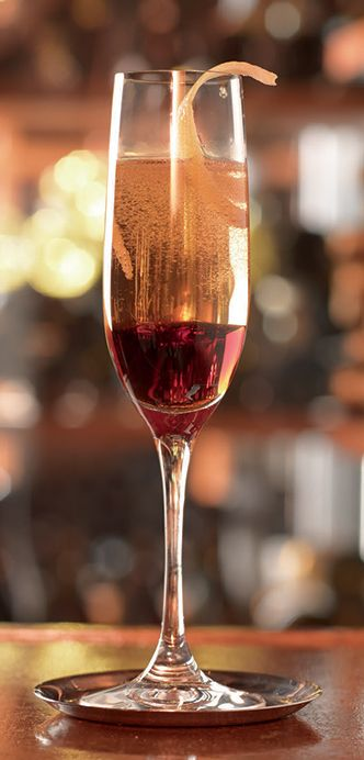 Combine the rum, cherry liqueur, Fernat Branca bitters and the black walnut bitters in a mixing glass with ice. Strain into a champagne flute before topping up with dry cava. Garnish with a long ...