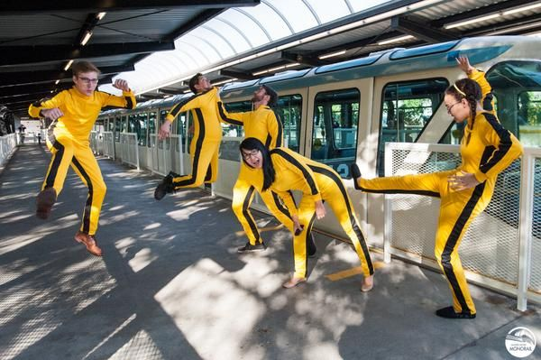 The Monorail helped kick #BruceLeeDay off, sparking a #DoYouKnowBruce off with Ride the Ducks