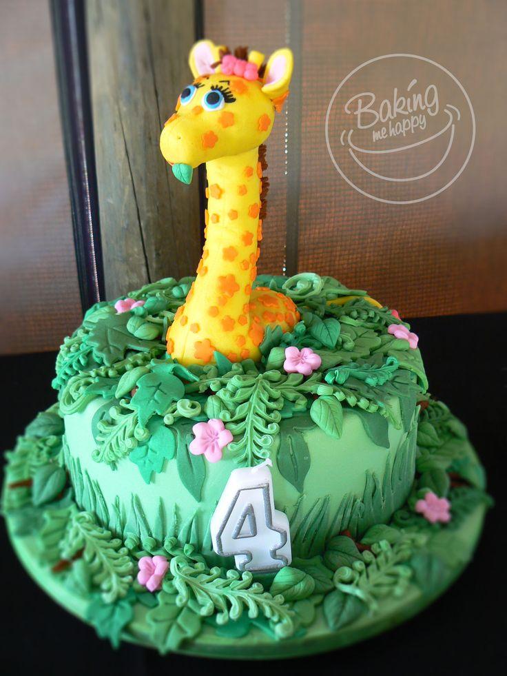 Giraffe Chocolate Cake  #Giraffe Cake #BakingMeHappy