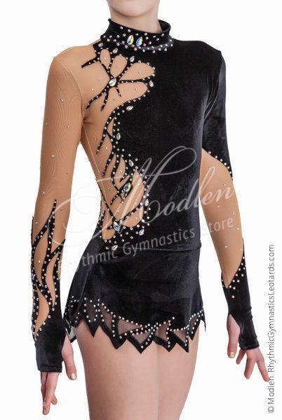 Leotard #152: Rhythmic Gymnastics Leotard, Ice Figure Skating Dress, Acrobatic Gymnastics Costume, Jumpsuit or Dance Dress by Modlen on Etsy https://www.etsy.com/listing/248938228/leotard-152-rhythmic-gymnastics-leotard
