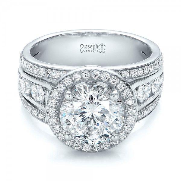 Custom Diamond Halo Engagement Ring for the Glamorous Bride!