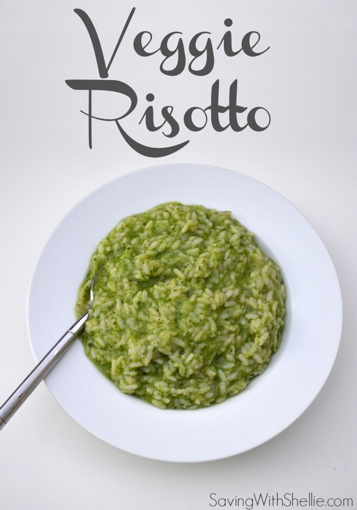 Yummy Veggie Risotto. Perfect for sneaking in veggies for the kids and an easy way to use up what's in your fridge.