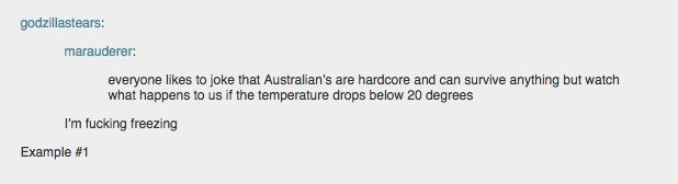 But actually, have you been to Canberra? Wait of course not. But aside from crap politicians we also have 2-3 months of blazing summer and then the rest really cold winter.
