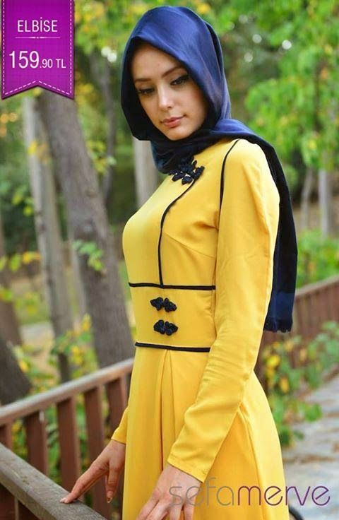 Combinaisons Hijab et Abaya Turque par Sefamerve | Hijab Chic ...