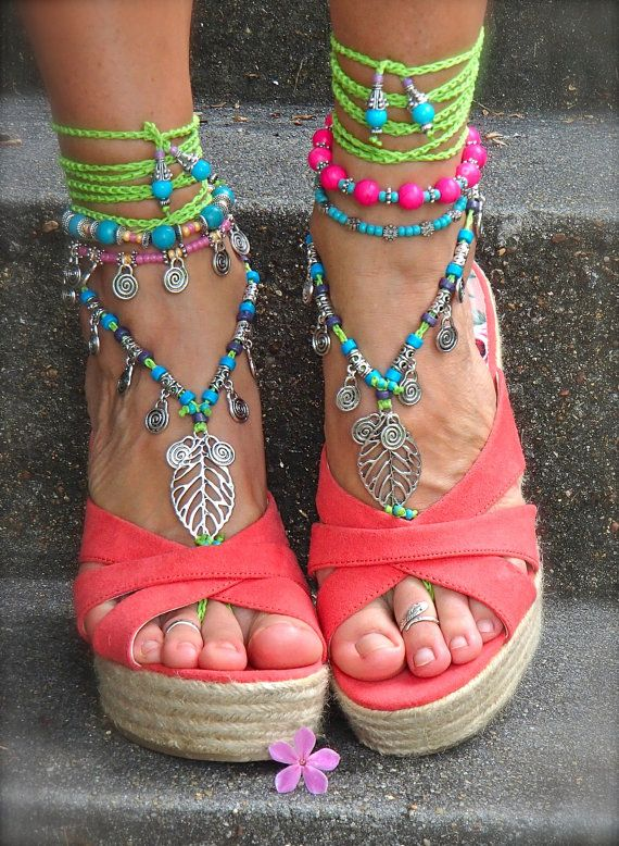 Hey, I found this really awesome Etsy listing at http://www.etsy.com/listing/157441565/neon-green-barefoot-sandals-leaf-toe