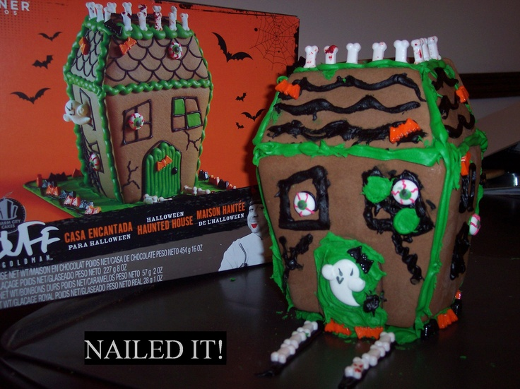 Haunted Gingerbread House... Nailed it!