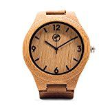 Wooden Watch for Men by Tree People: Bamboo Wood Case Genuine Cowhide Leather Watch Strap Miyota Quartz MovementTree People1854% Sales Rank in Watches: 85 (was 1661 yesterday)(40)Buy new: $89.99 $32.772 used & new from $30.48 (Visit the Movers & Shakers in Watches list for authoritative information on this product's current rank.)