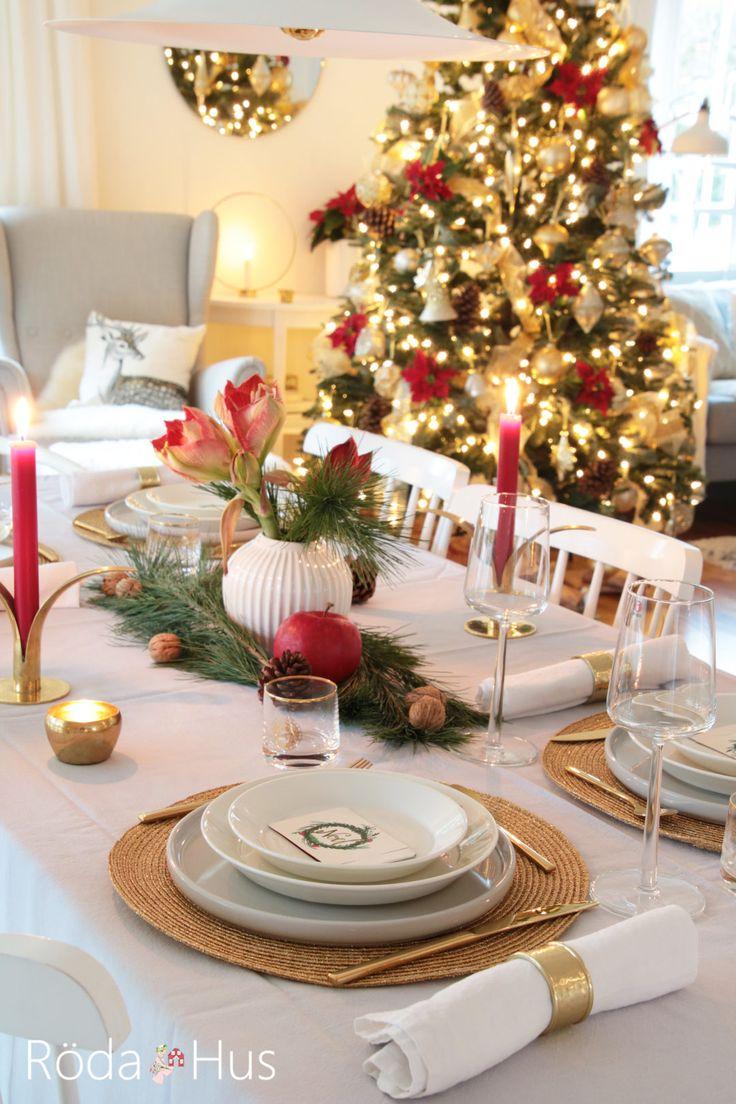 Das Weihnachtsfest! – Röda Hus #weihnachtsbaum #christmastree #balsamhill #tablesetting