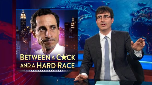 John Oliver Helped Put The Nail In Anthony Weiner's Political Coffin On 'The Daily Show' Last Night