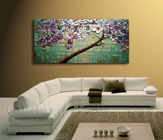Oil Painting on canvas Evening Touch landscape Abstract Home