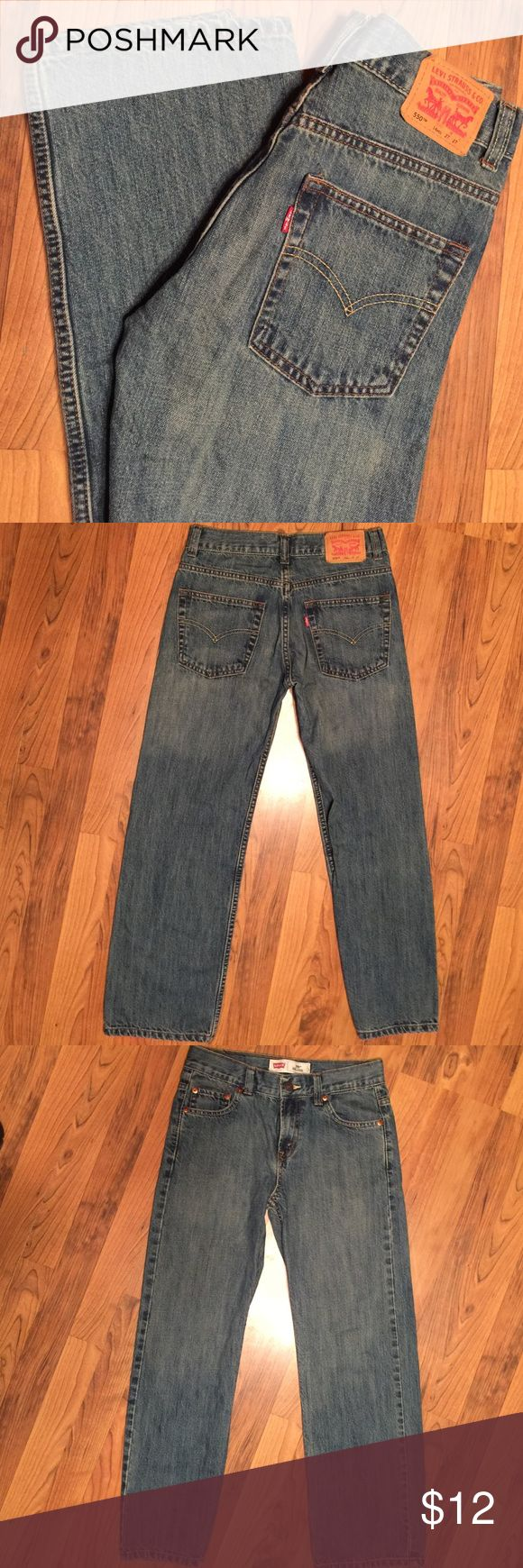 "Levi's 550 Relaxed Fit Jeans. Size 14R, 27""W, 26L Levi's 550 Relaxed Jeans.  Size:  14 REG,  27"" Waist, 26"" Long.  Good Preowned Condition.  Uniform Fading That Looks Great & Levi's Is Known For. Levi's Bottoms Jeans"