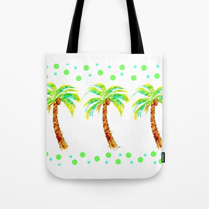 11bf75daa9 Buy Tropical Palms Tote Bag by paintedapron. Worldwide shipping available  at Society6.com.