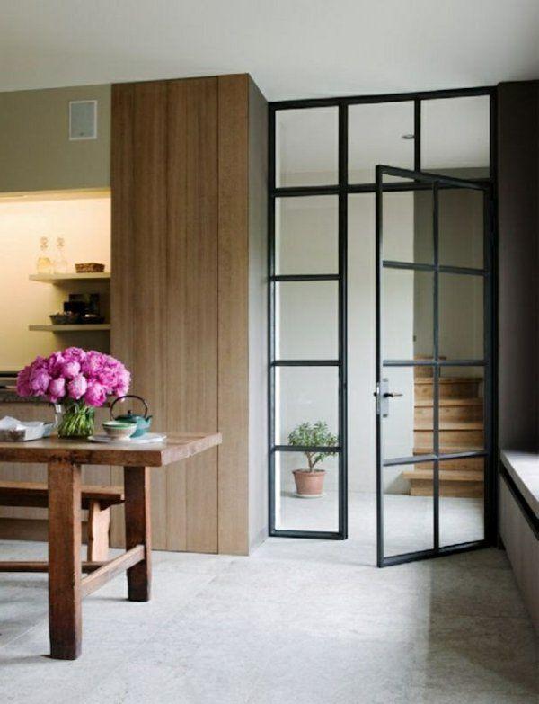 Les 25 meilleures id es concernant les rideaux pour portes for Decoration porte vitree