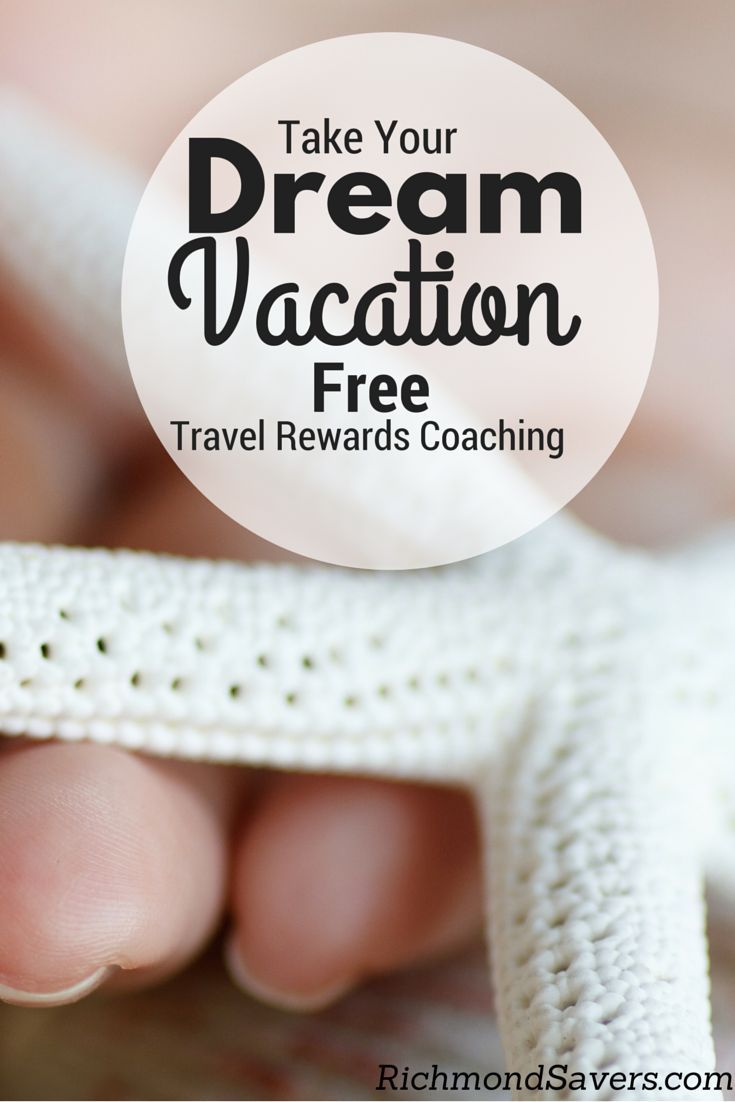 Take Your Dream Vacation for Free with Travel Rewards Coaching! We're a normal family who learned to maximize credit card bonuses to earn over 1,000,000 points and travel to Disney World and Bermuda and we want to teach you how to take your own luxury vacation to wherever your dreams might take you! http://www.richmondsavers.com/free-travel-rewards-coaching-program/