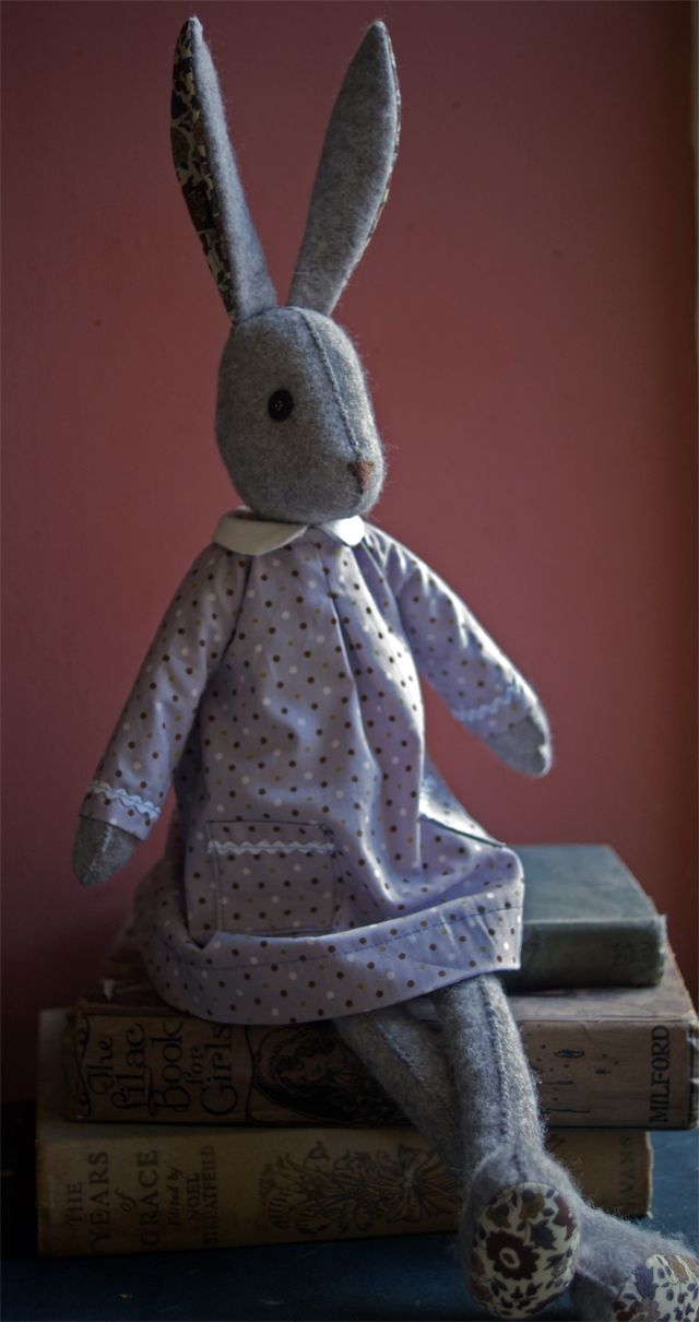 Luna's Polka Dot Dress - part of the wool felt coat kit available to buy at www.coolcrafting.co.uk £16