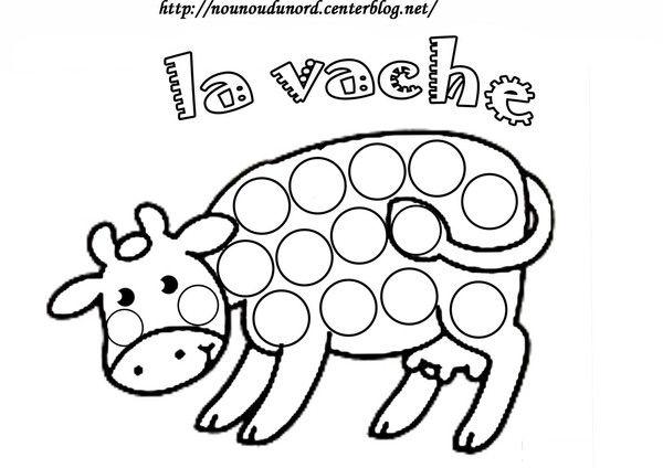 coloriage la vache à gommette    Imprimer le coloriage grand format en fichier PDF cliquez :.ici.   Si vous voulez les imprimer sur des feuilles autocollantes cliquez :-ici- -conseil-pour-imprimer-les-fichiers-pdf-. ...