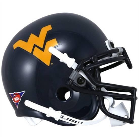 West Virginia Mountaineers football game helmet