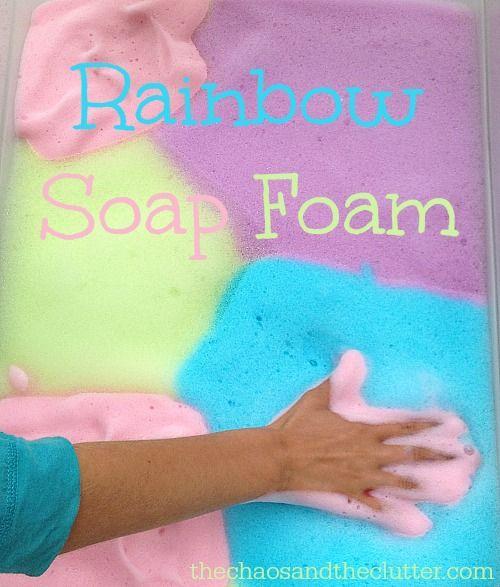 Rainbow Soap Foam - part sensory, part science, part art, all fun! #PalmoliveWM #ad