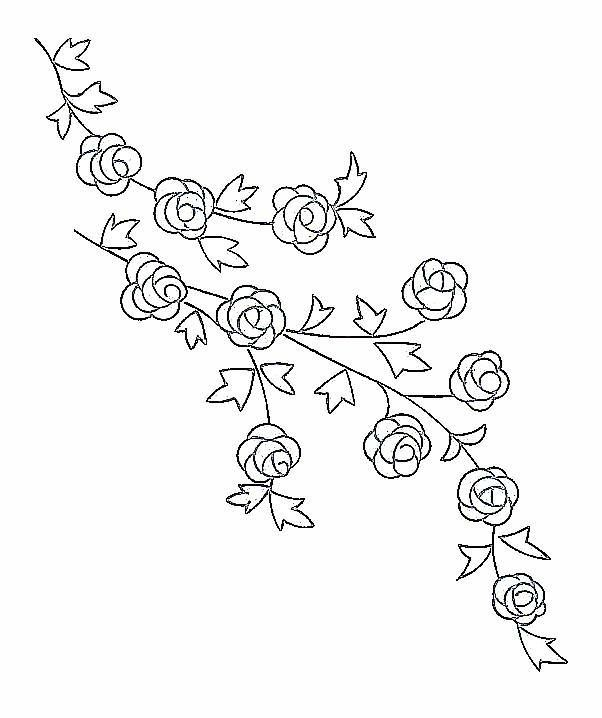 Rose flowers for  hand towel - 2 designs