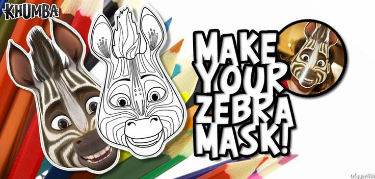 Hey, kids all around the world love making and wearing masks! Why is that? ;) See this latest fun #activity, you can colour in and make your own Khumba mask. Just visit: www.khumbamovie.comto download and print.  Psst. Great for Themed #Khumba #party ideas
