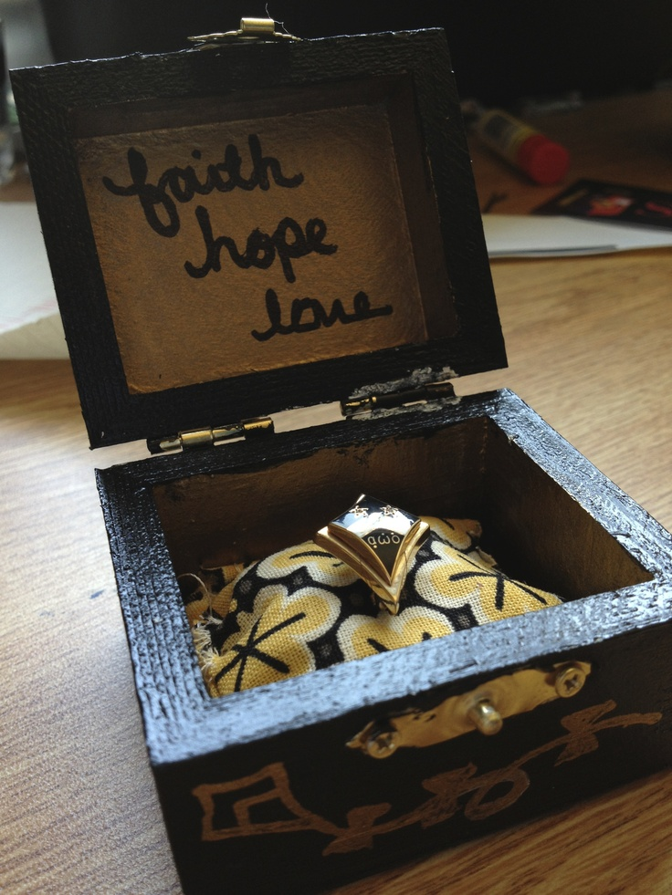 Kappa Alpha Theta badge box DIY #theta1870 #thetadiy