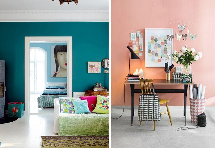 Яркие решения для покраски стен современной квартиры