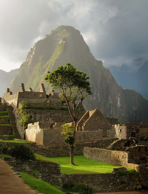 Late Afternoon Sun at Machu Picchu. Such a beautiful place to go!