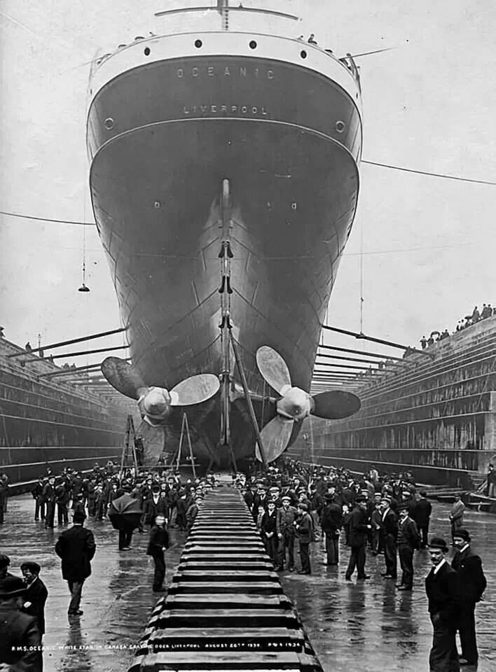Rms oceanic white starline 26th august 1898