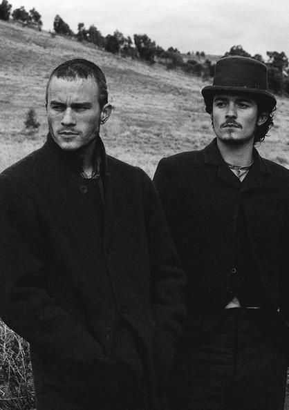 "Heath Ledger (RIP) as Ned Kelly and Orlando Bloom as Joe Byrne in ""Ned Kelly""."