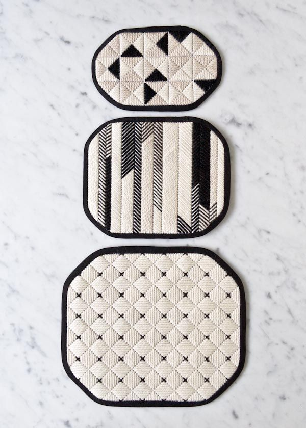 Graphic Needlepoint Trivets | Purl Soho