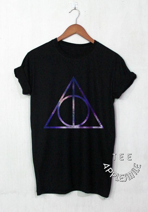 Deathly Hallows Galaxy shirt Harry Potter shirt Galaxy tee unisex t-shirt size S…