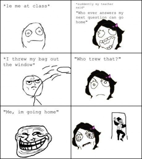 Smartie troll face