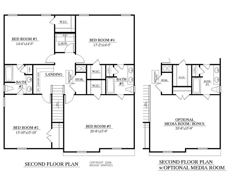 House plan 2691 a mccormick 2nd floor plan 2691 square for 1 1 2 story floor plans