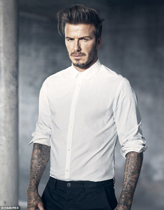 A crisp white number flattered David Beckham's toned frame as the sportsman wows in new H&M campaign