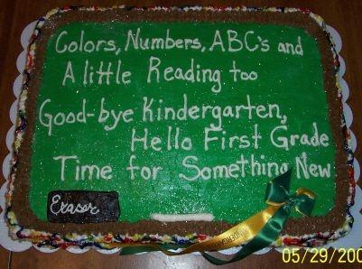 kindergarten graduation cakes - Google Search