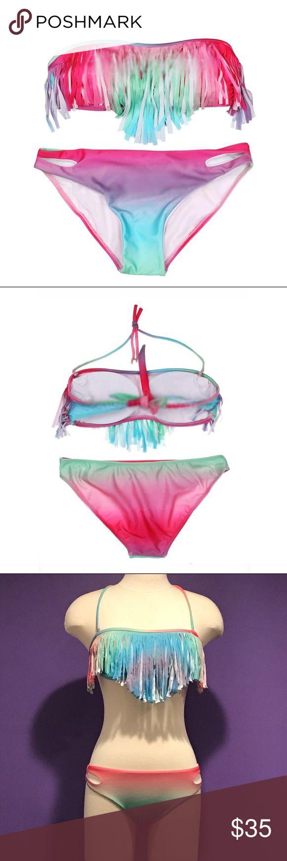 Fringe Bikini Fringe Bikini with optional neck tie Swim Bikinis